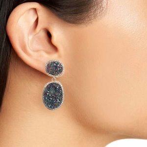 Jewelry - Krystal faux druzy earrings NWT